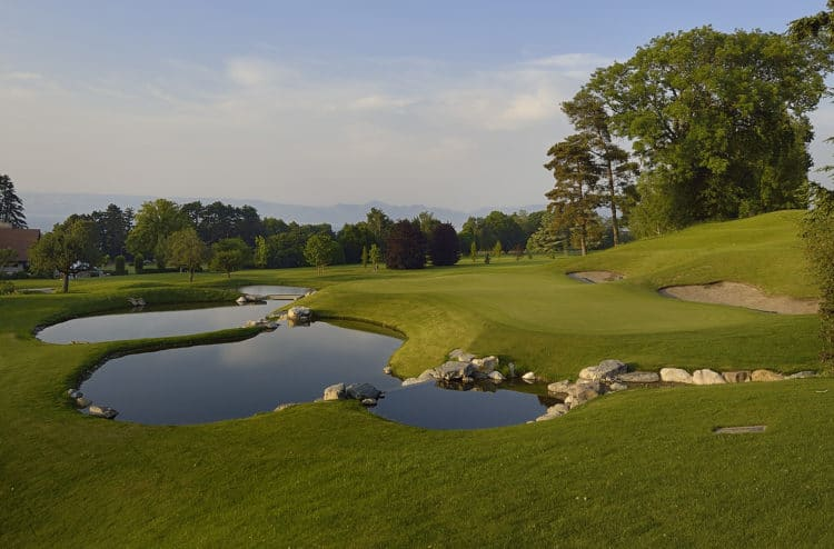 Le parcours de golf d'Evian