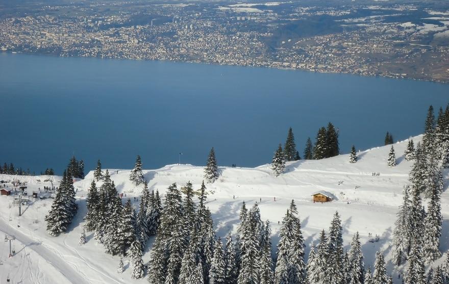 Thollon-les-Mémises, skiez sur le lac Léman