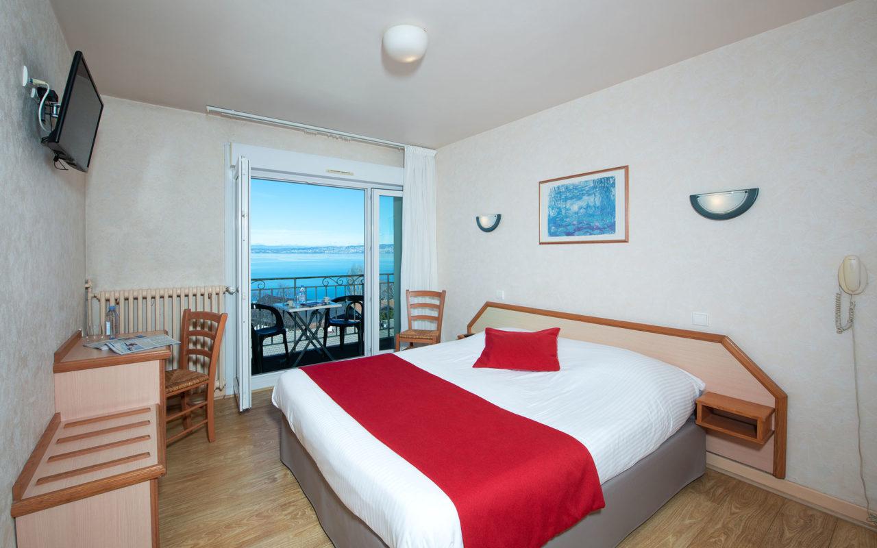 Une chambre de l'Hôtel Evian Express