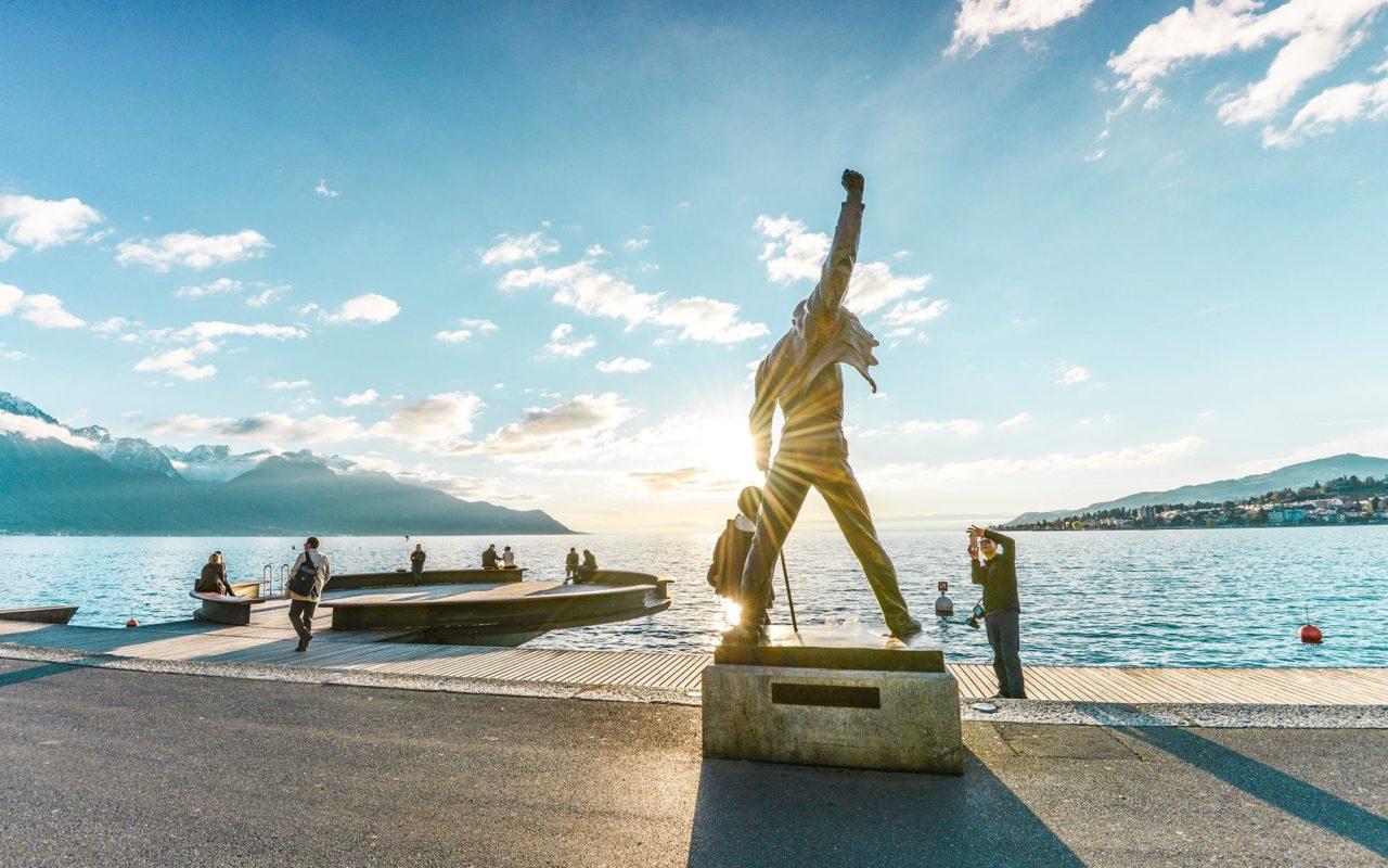 La Statue de Freddy Mercury à Montreux
